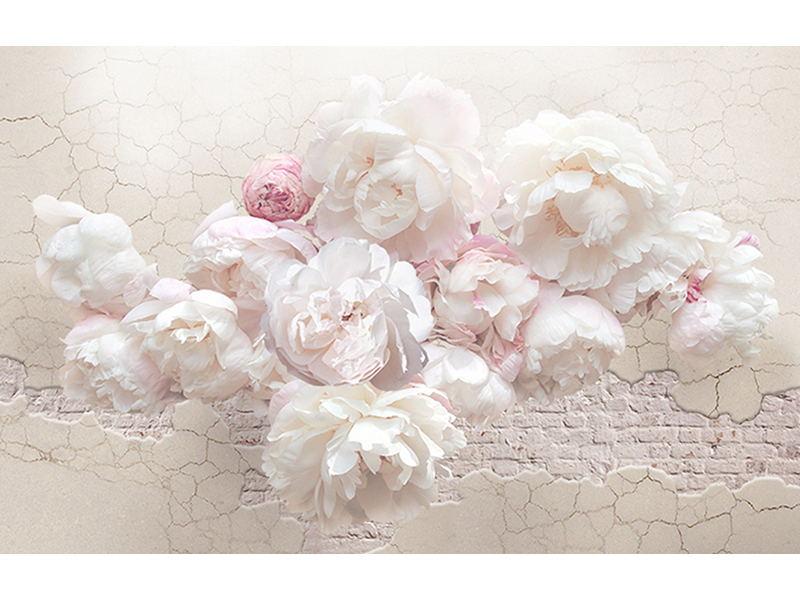 Бело-розовые цветы лофт 1992