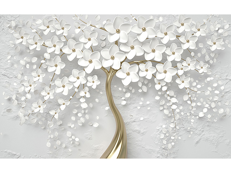 3д белое дерево 2162