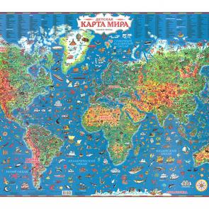Карта мира рисованная