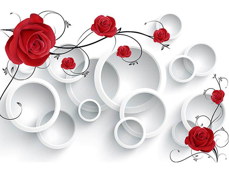 3д красные розы 2142
