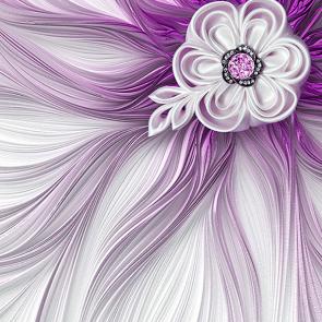 Роспись фиолетовая