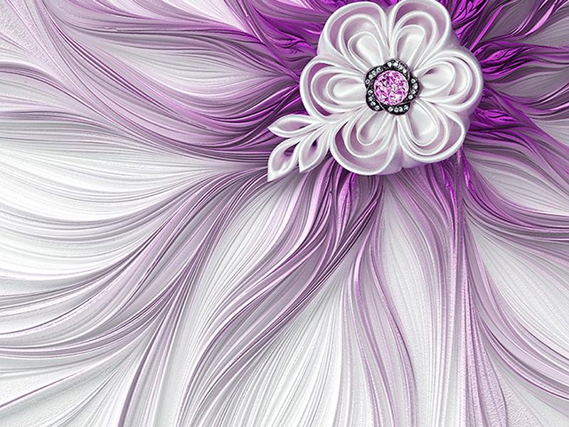 3д роспись фиолетовая 2120