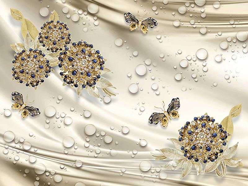 Бабочки и цветы 2091