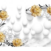 Золотистые цветы с шарами