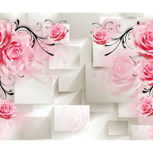 Розы бежевый объем