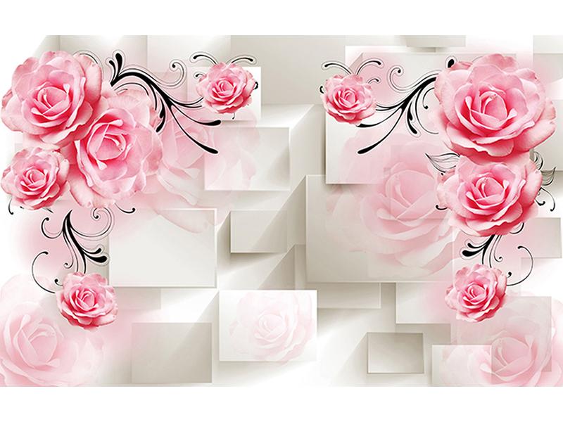Розы бежевый объем 2077