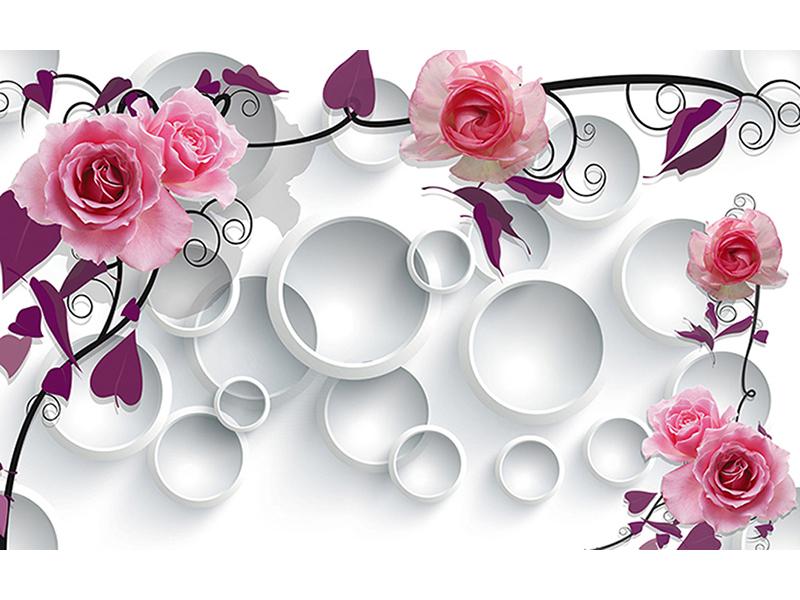 Розы и круги 3д 2075