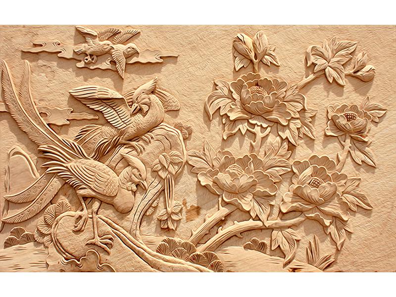Бежевая лепнина птицы 2072