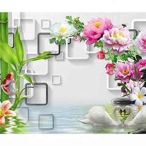 Цветы над водой