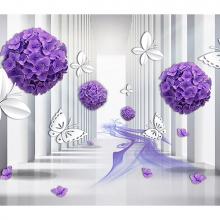Фиолетовые шары из цветов
