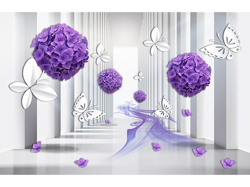 Фиолетовые шары из цветов 2055
