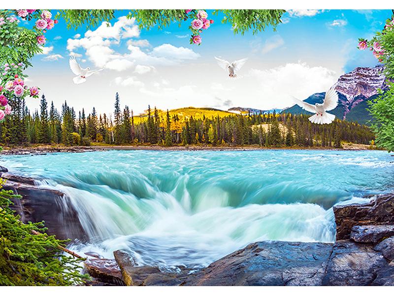 Горная река со ступенью 2053