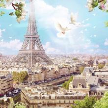 Вид на Париж в полдень