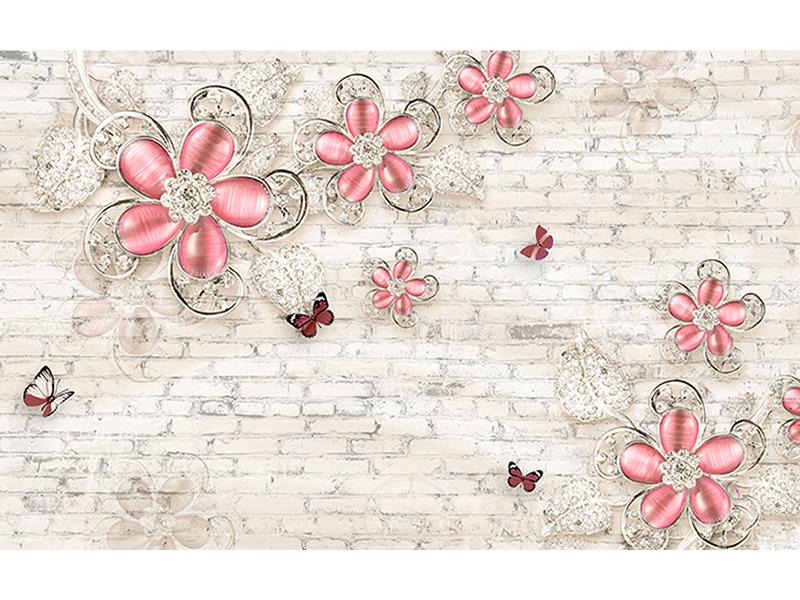 Цветы красные лофт 2031