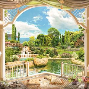 Балкон у пруда