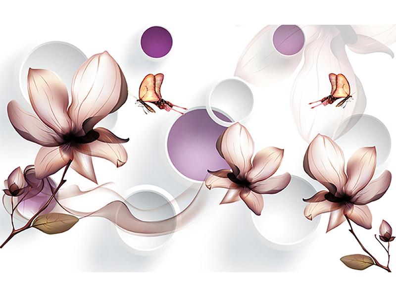 Воздушные цветы и бабочки 2029