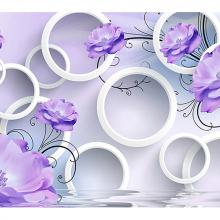 Цветы и кольца с эффектом объема