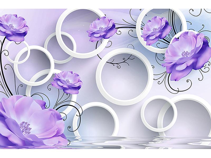 Цветы и кольца с эффектом объема 2026