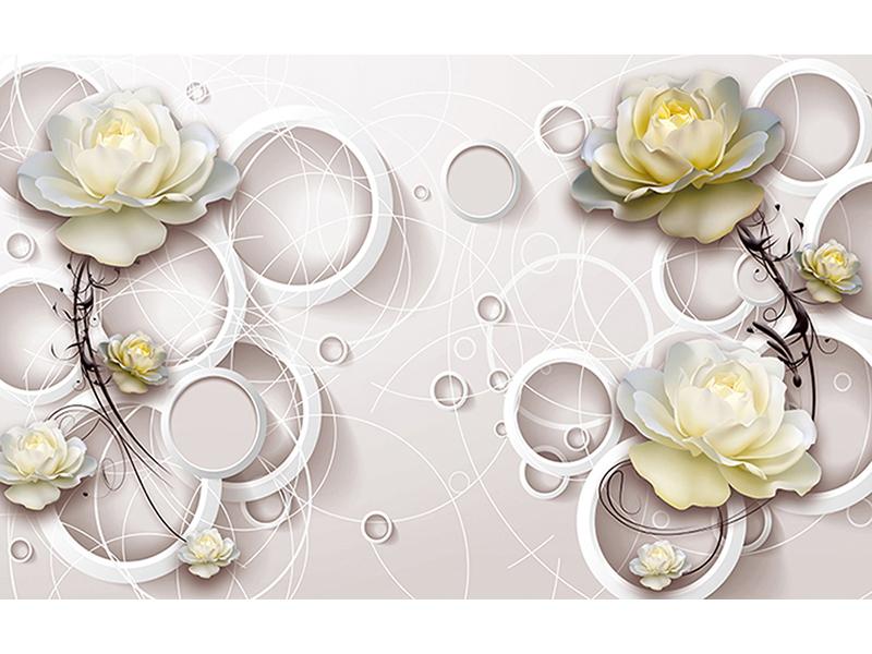 Цветы и кольца нежность 2023
