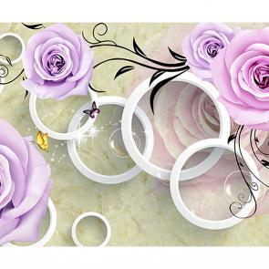 Сиреневые розы и кольца