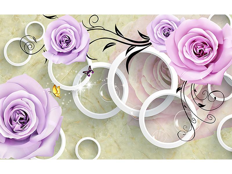 Сиреневые розы и кольца 2019