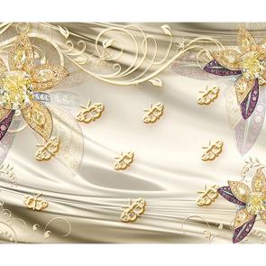 Узоры на шелке с цветами