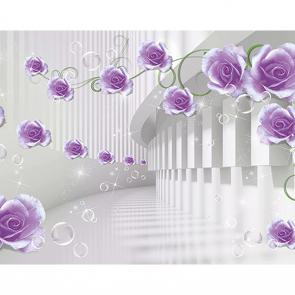 Фиолетовые цветы бесконечность