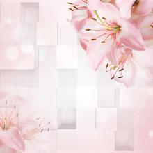 Розовые цветы в объеме