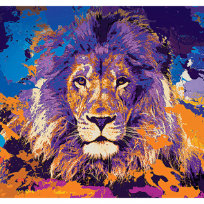 Абстрактный лев