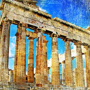 Акрополь в ретро стиле