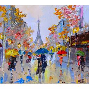 Зонтики Парижа акварель