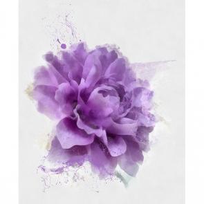 Фиолетовый акварельный цветок