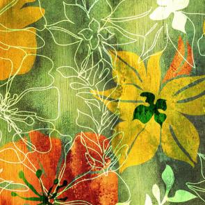 Цветочный узор акварелью