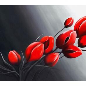 Акварельные красные цветы