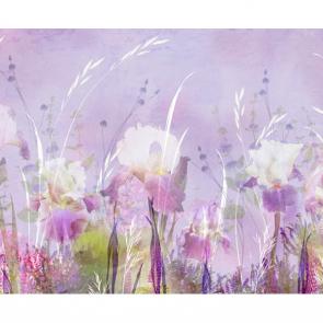 Сиреневые акварельные цветы