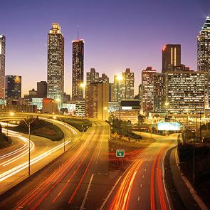 Атланта в сумерках