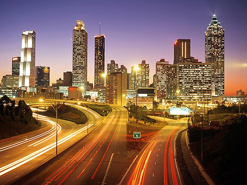 Атланта в сумерках 1988