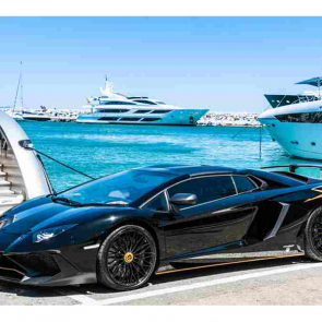 Черный Lamborghini