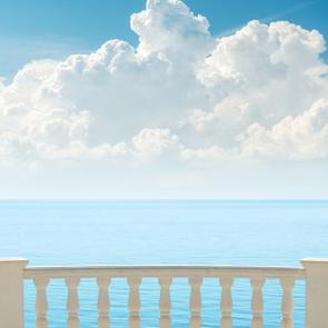 Балкон с видом на море 5109