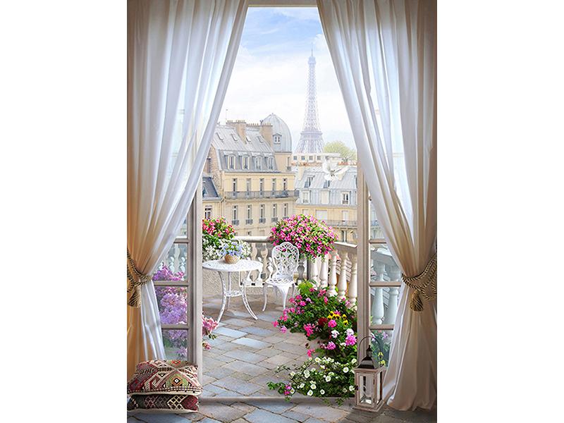 Балкон в Париже 1980