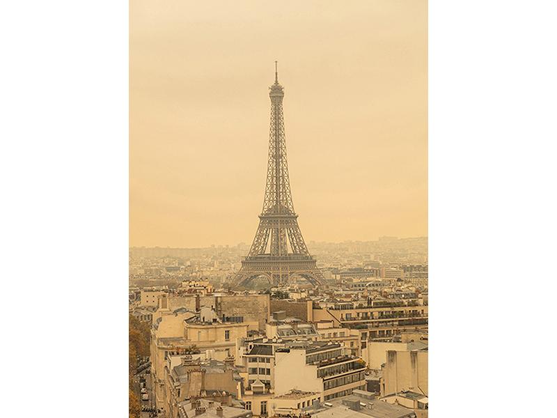 Эйфелева башня в Париже 1970