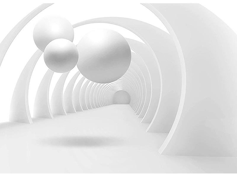 Белые шары 3д композиция 1963
