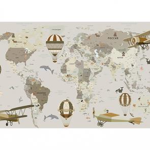 Детская карта мира большая