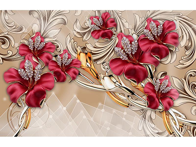 Бордовые цветы 1940