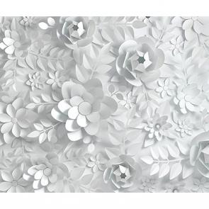 Бумажные цветы композиция