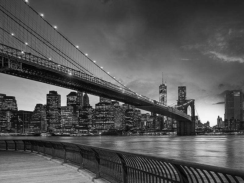 Черно-белый мост в Нью-Йорке 1039