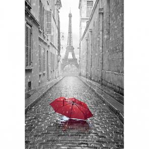 Черно-белая улица Парижа