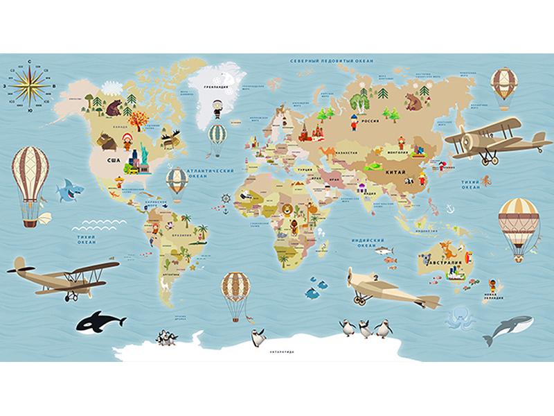 Детская карта мира 2307