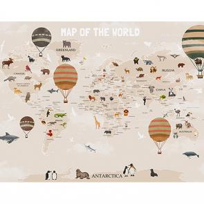 Детская карта мира с шарами