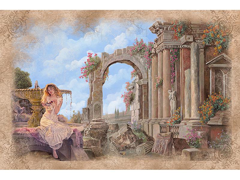 Девочка у фонтана 2506